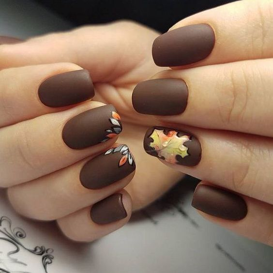 Fall/Autumn Leaves Nail Art 2018