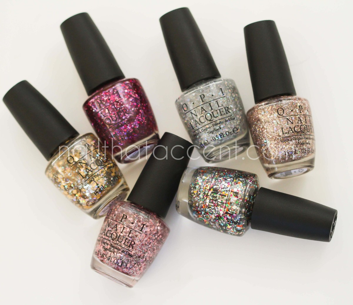 OPI Spotlight On Glitter Collection Swatches and Review ...