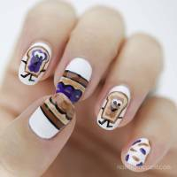 Peanut Butter & Jelly Nail Art | Nail That Accent