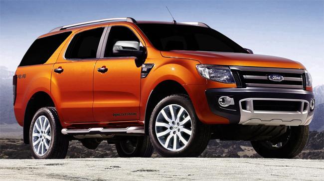 Ford Ranger a SUV de 7 lugares prevista para chegar em 2013, terá uma ...