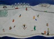 Landskab med januar og kælkebakke. Værket har løbenr. 1.03 og er værk nr. 24 i Tidernes Landskaber.