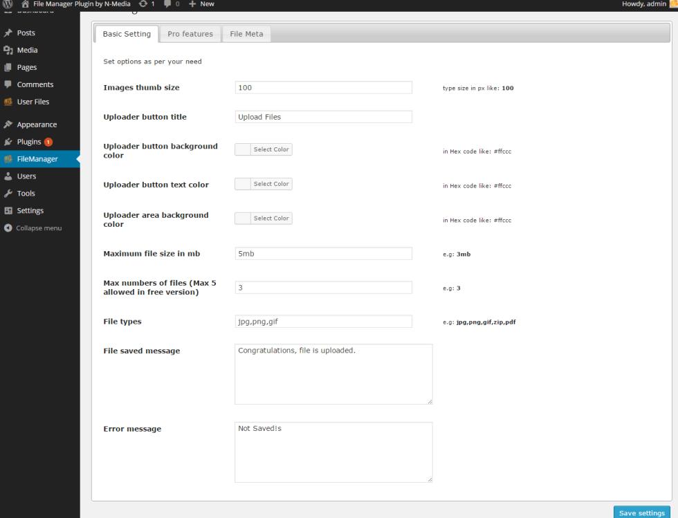 Basic-settings-in-plugin-options