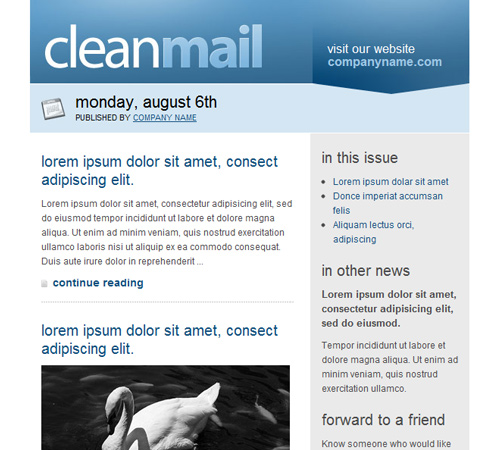 50 Email Templates to Enhance your Newsletter\u0027s Appeal Naldz Graphics