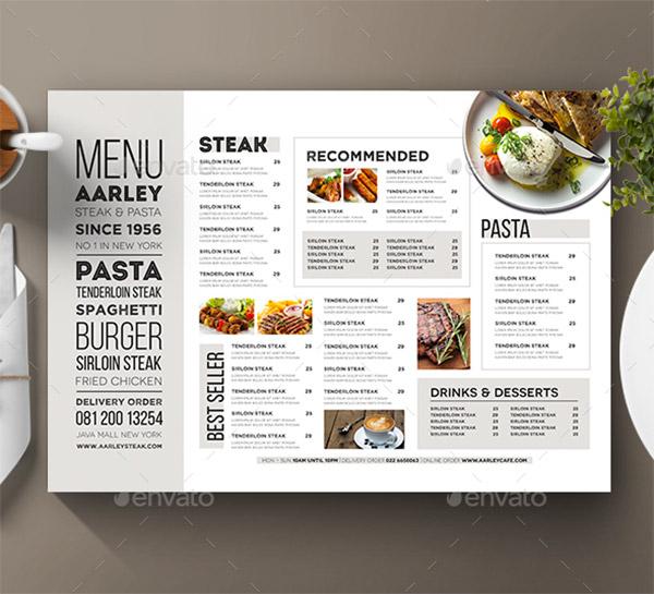 44 Premium Food Menu Templates To Download Naldz Graphics - a la carte menu template