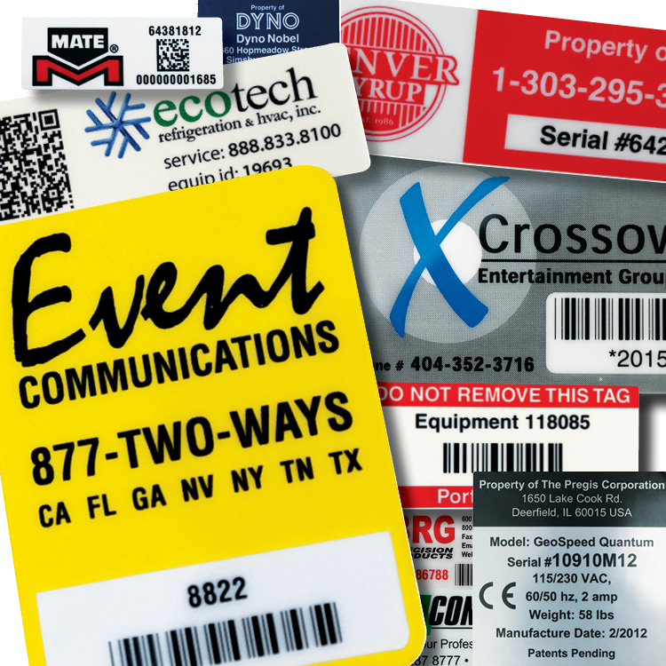 Serial Number Labels and Tags Nameplates for Industry