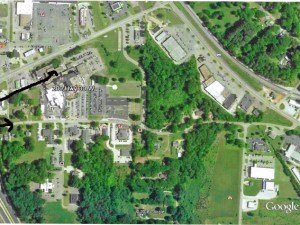 This Google Earth image shows Oxford Road, which provides primary access to Baptist Memorial Hospital-Union County and most of the other available medical services in Union County.