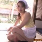 【動画】ママの尻コキに大量射精!北条麻妃