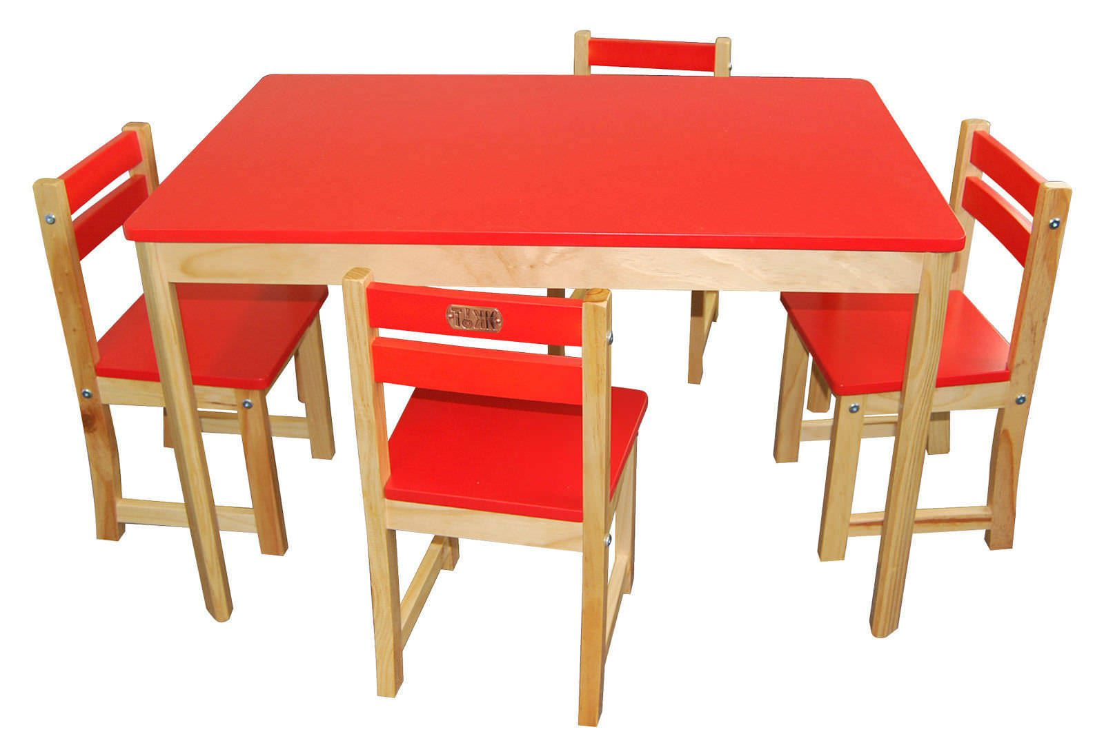 Childrens Play Table Childrens Play Table 43 4 Chairs Set Rectangle Red Kids