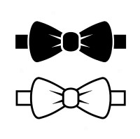 Pretty Bow Tie Template Images # Inlay Kits Templates ...