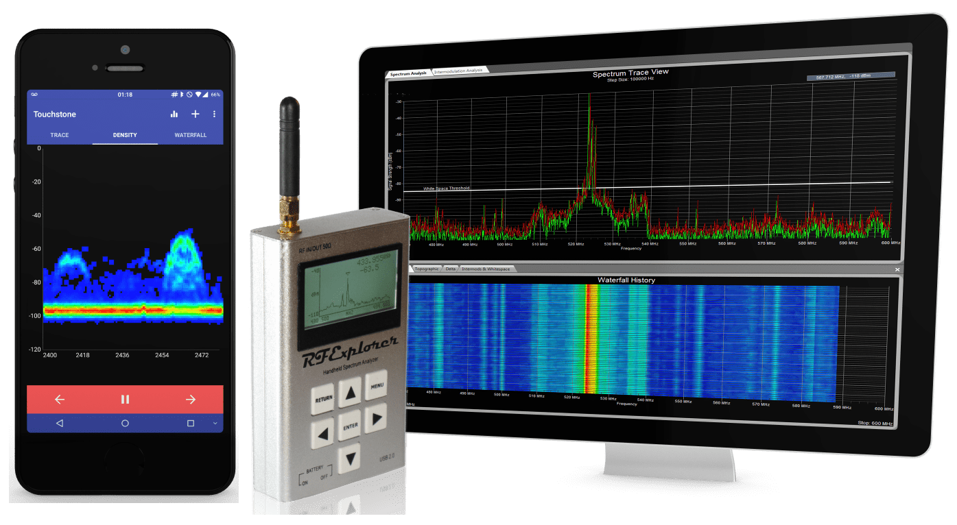 Network Analyzer Rf Explorer Low Cost Handheld Rf Spectrum Analyzers