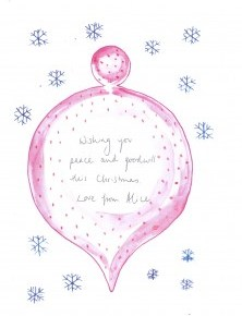 Message on a Bauble
