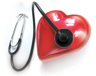 desenho ficticio de uma coração mais um estotscopio