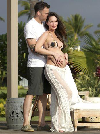 O ator Brian Austin Green e sua mulher, a atriz Megan Fox