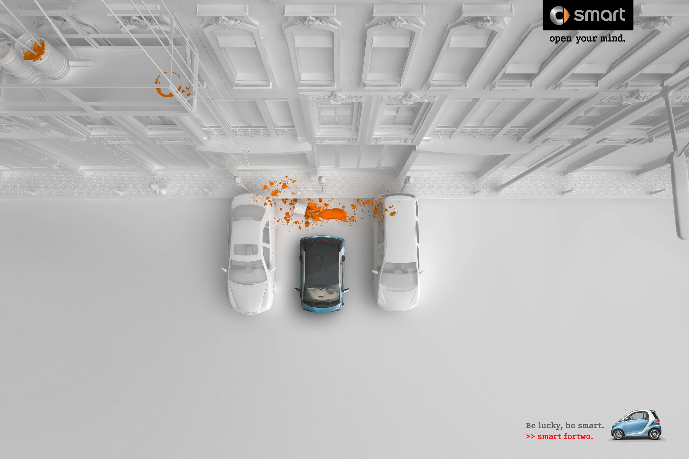 A Car Automotive Smart Print Advert By Bbdo: Paint | Ads Of The World™