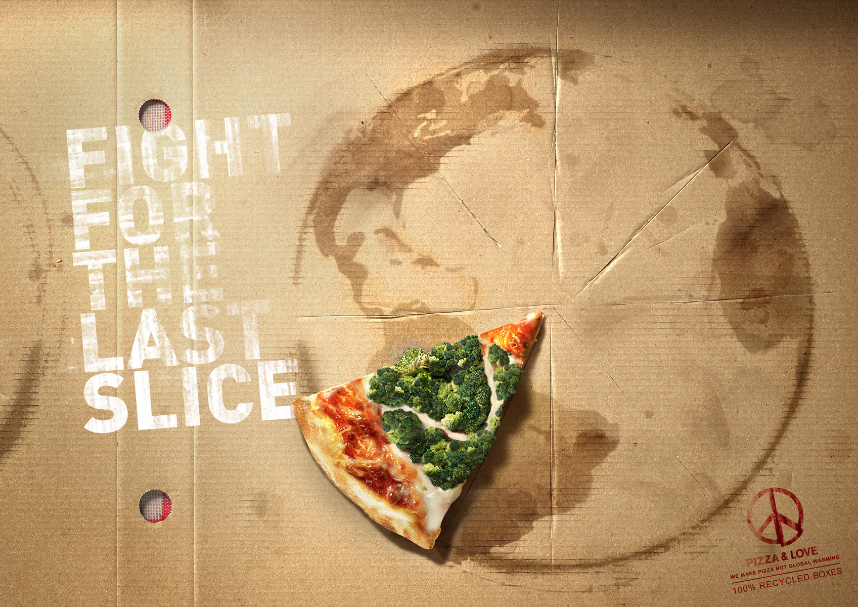 Piece Ad Pizza Andlove Print Advert By Contrapunto Fight For The