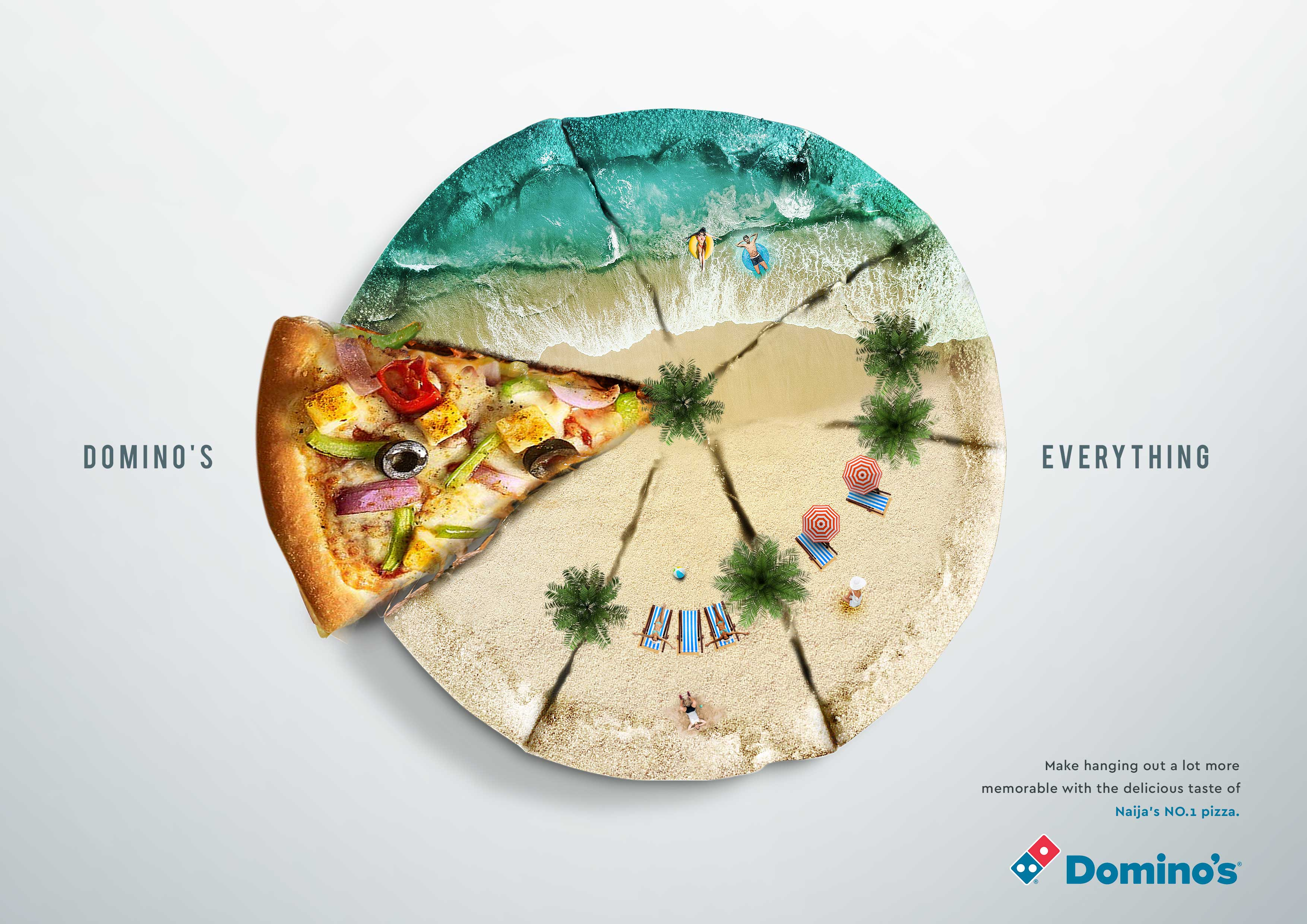Dominos Domino S Pizza Print Advert By X3m Ideas Beach Ads Of The