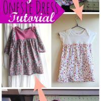 Onesie Dress Sewing Tutorial