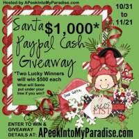 Santa Paypal Cash Giveaway