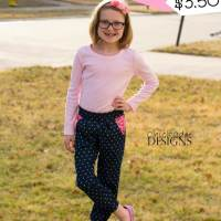 Girls Sassy Pants Pattern Release Sale