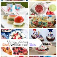 Red White and Blue Recipes and Create Link Inspire Party
