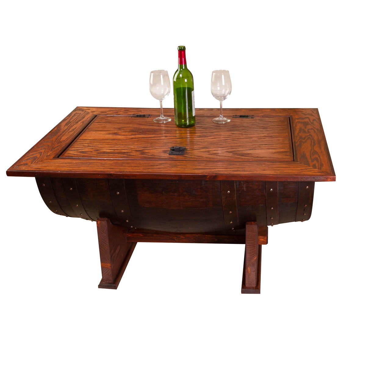 Finish Tables Wine Barrel Distressed Finish Coffee Table Napa East