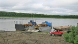 Loading It Onto The Barge