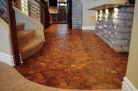 End Grain Wood Flooring Diy Cozy Home   Autos Post