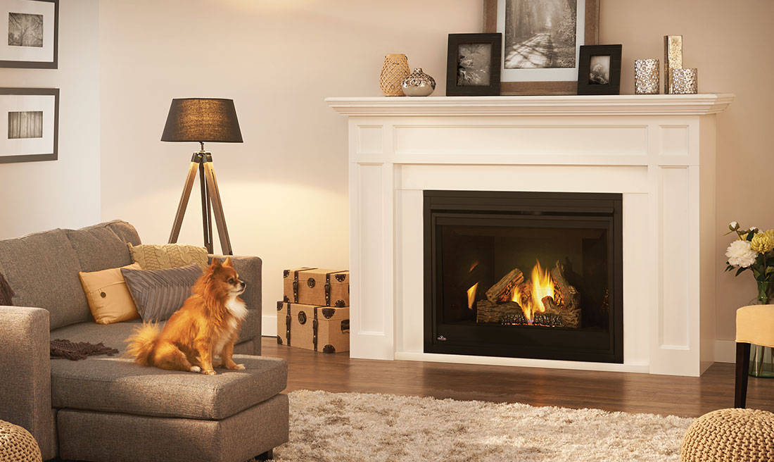Marquess Gas Fireplace Mantel by Napoleon