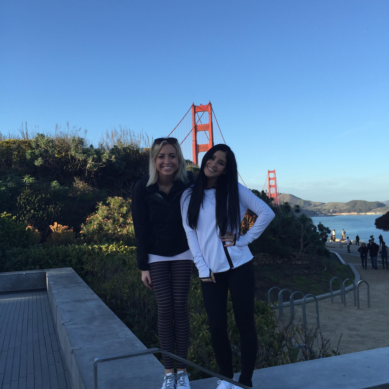 Me and Mars across the bridge. Kallie is sleeping