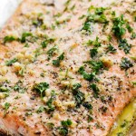 Image from http://therecipecritic.com/2015/10/baked-parmesan-garlic-herb-salmon-in-foil/ So yummy!