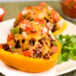 Image from: http://thecozycook.com/taco-stuffed-peppers/ But the final product actually looked similar! Win.