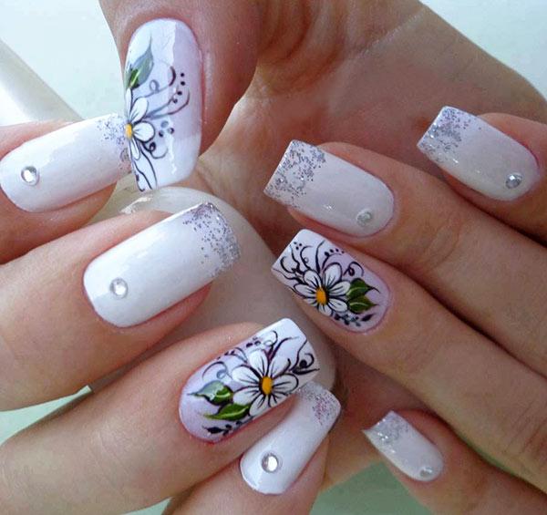 Рисунки для ногтей гель лаком на нарощенных ногтях