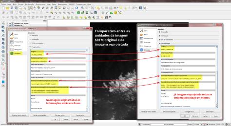 Verificando parâmetros dos metadados no QGIS