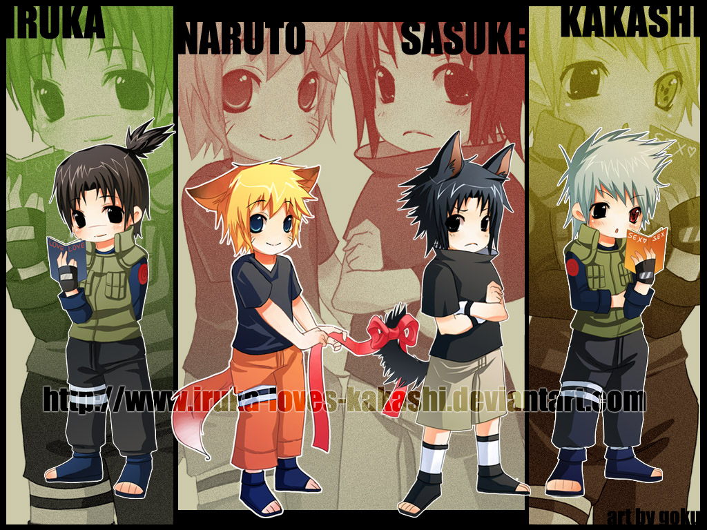 Naruto Team 7 Wallpaper Cute Gambar Naruto Chibi Narutocollection