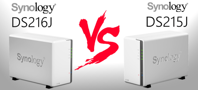 Compares the Synology DS216J and the Synology DS215J NAS for 2016