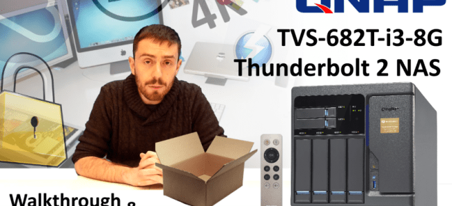 The QNAP TVS-682T-i3-8G 4-Bay Thunderbolt 2 NAS with 10GBe, 4K HDMI, SSD Cache Unboxing Video