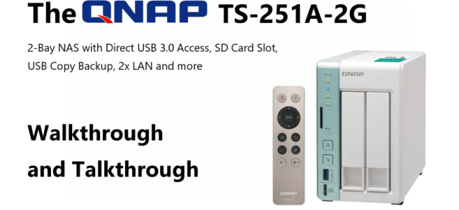 The QNAP TS-251A 2-Bay USB 3.0 DAS and NAS Walkthrough and Talkthrough with thumb