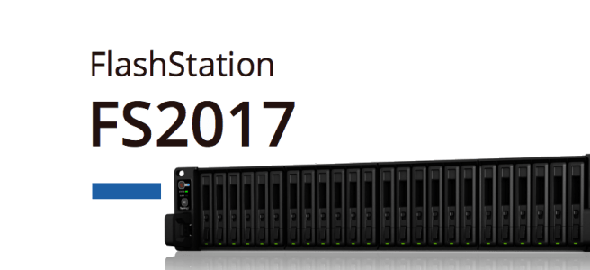 Synology FS2017 Flash NAS for intensive 90K 4K Random Write IOPS, 10GBe, 25GBe, 40GBe and more
