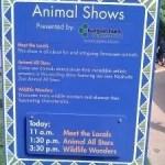 Animal Show times - these change seasonally