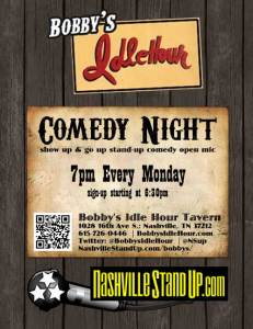 Bobby's Idle Hour Comedy Night OPEN MIC