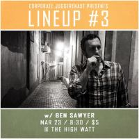 Ben Sawyer at Lineup #3 comedy special taping at The High Watt - March 23, 2015