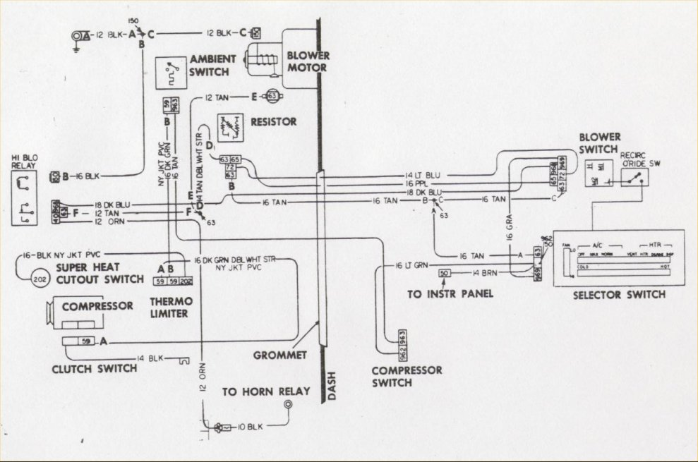 1969 Camaro Ac Wiring Diagram - Wiring Diagram Write