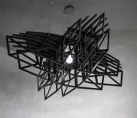 BLACK STAR - large black pendant light, pendant lamp ...