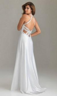 All white prom dresses
