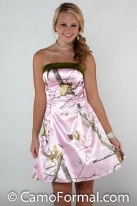Camo bridesmaid dresses