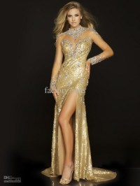 Gold formal dresses