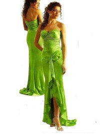 Lime green bridesmaid dresses