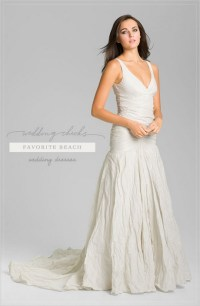 Linen beach wedding dresses