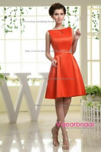 Pink and orange bridesmaid dresses