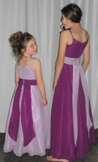 Purple junior bridesmaid dresses